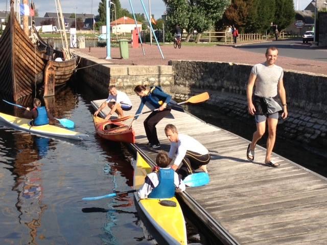 Mise eau kayak debutant
